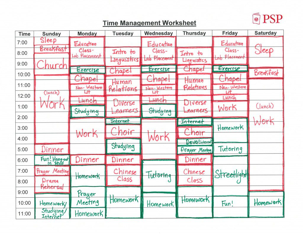 How to create a time management worksheet the magic blog for Nursing time management template